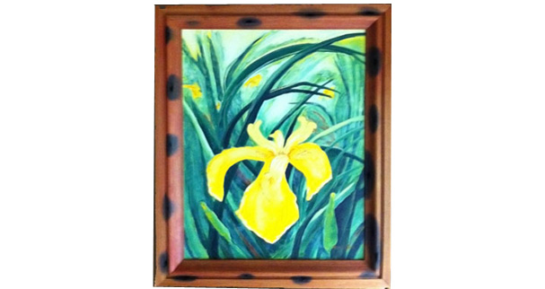Heartpine picture frame with pa...